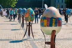 Sexto festival totalmente ucraniano de los huevos de Pascua Imágenes de archivo libres de regalías