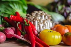 Sexto grupo de vegetais selecionados da qualidade e de um outro alimento Imagem de Stock
