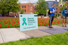Sexual Assault Awareness Month at University of Oregon Stock Images