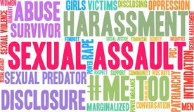 Sexual Assault Word Cloud. On a white background Royalty Free Stock Photo