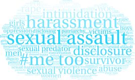 Sexual Assault Word Cloud. On a white background Royalty Free Stock Images
