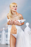 Sexual beautiful bride Royalty Free Stock Photos