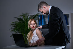 Sexual bullying at work Royalty Free Stock Photography