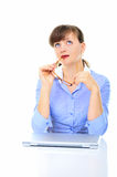 Sexual businesswoman in the office Stock Image