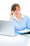 Sexual businesswoman in the office Stock Images