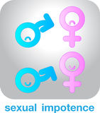 Sexual concept icon  impotence. Sexual concept icon impotence   on gray background Stock Image