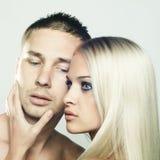 Sexual couple posing stock photos