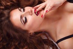 Sexual girl in bra Royalty Free Stock Photo