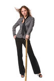 Sexual girl in business suit Stock Image