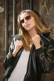 Sexual girl in sun glasses Stock Photography