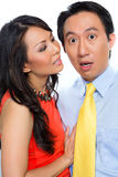 Sexual harassment by Chinese woman in office Royalty Free Stock Image