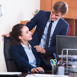 Sexual harassment in office Stock Photography