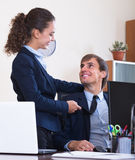 Sexual harassment in office Stock Image