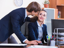 Sexual harassment in office Royalty Free Stock Photo