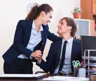 Sexual harassment in office Royalty Free Stock Images