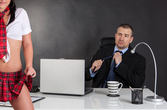 Sexual harassment. Stock Photography