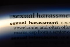 Sexual harassment. Word in a dictionary.  concept royalty free stock photo
