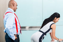 Sexual harassment at workplace Royalty Free Stock Image