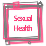 Sexual Health Pink Grey Frame. Sexual health text written over pink grey background Stock Photography
