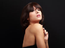 Sexual makeup woman with short hair style Stock Photography
