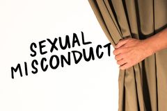 Sexual Misconduct - Behind the Curtain stock photos