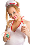 Sexual nurse Royalty Free Stock Photography