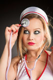 Sexual nurse Stock Images