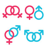 Sexual orientation  icons in trendy flat style Royalty Free Stock Images