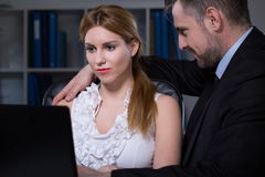 Sexual relationship at work Royalty Free Stock Photo