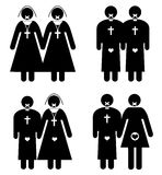 Sexual Taboos of the Church. Sexual relationships with the seal of secrecy Stock Images