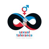 Sexual Tolerance hetero and homosexuals conceptual symbol, Zero Stock Photography