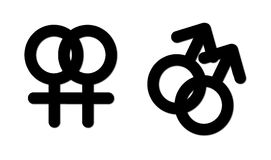 Sexual union symbols Stock Images