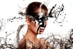 Sexual woman with paint on face Stock Photography