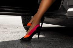 Sexual woman's legs in cute high heels Stock Photo