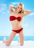 Sexual young blonde girl Royalty Free Stock Photos