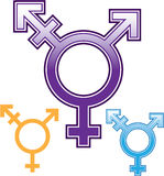 Sexualitäts-Symbolvektor Stockfoto
