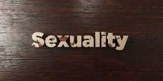 Sexuality - grungy wooden headline on Maple  - 3D rendered royalty free stock image. This image can be used for an online website banner ad or a print postcard Stock Photography