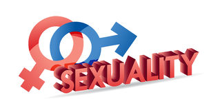 Sexuality male and female symbols Royalty Free Stock Images