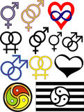 Sexuality symbols Royalty Free Stock Photos