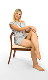 Sexuality woman in dress royalty free stock photography