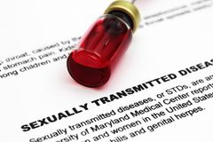 Sexually transmitted disease Royalty Free Stock Images