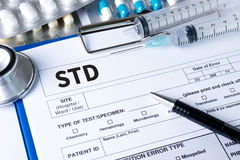 Sexually Transmitted Diseases HIV, HBV, HCV, Syphilis STD ,ST. OP STD stock photos