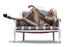 sexuell underkläder för härlig flicka royaltyfri fotografi