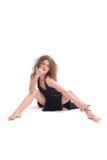 Sexuelle Frau in einem Abendkleid Stockfotos