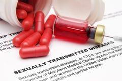 Sexuellement - les maladies transmises Photos libres de droits
