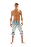 Sexueller Mann in den Jeans Lizenzfreie Stockfotos