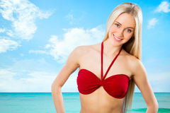 Sexuelles junges blondes Mädchen Lizenzfreies Stockbild