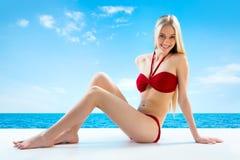 Sexuelles junges blondes Mädchen Stockfotos