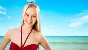 Sexuelles junges blondes Mädchen Stockbild