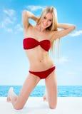 Sexuelles junges blondes Mädchen Lizenzfreie Stockfotos